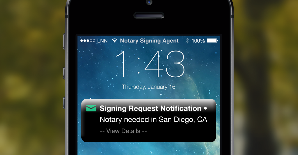 Notary Public Signing Request